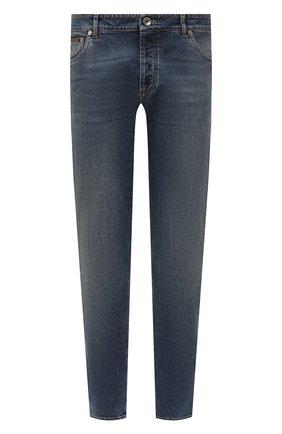 Мужские джинсы прямого кроя BRUNELLO CUCINELLI синего цвета, арт. M283PJ2010 | Фото 1