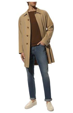 Мужские джинсы прямого кроя BRUNELLO CUCINELLI синего цвета, арт. M283PJ2010 | Фото 2