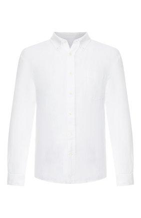 Льняная сорочка с воротником button down | Фото №1