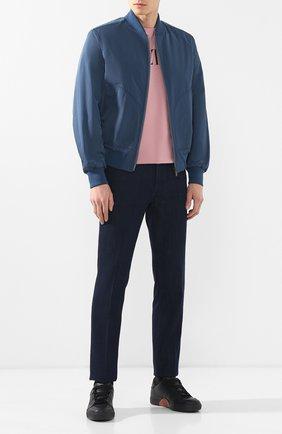 Мужские кожаные кеды tiziano ZEGNA COUTURE черного цвета, арт. A4005X-SWY | Фото 2