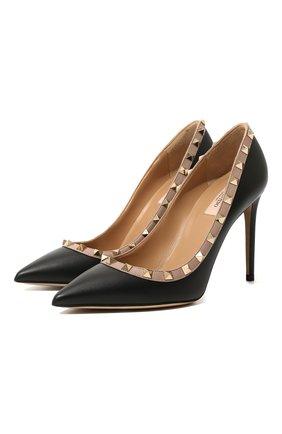 Женская кожаные туфли valentino garavani rockstud VALENTINO черного цвета, арт. RW2S0057/V0D | Фото 1