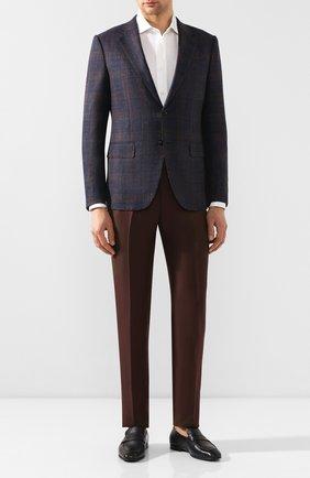 Мужские кожаные пенни-лоферы ERMENEGILDO ZEGNA темно-синего цвета, арт. A4001X-AFR | Фото 2