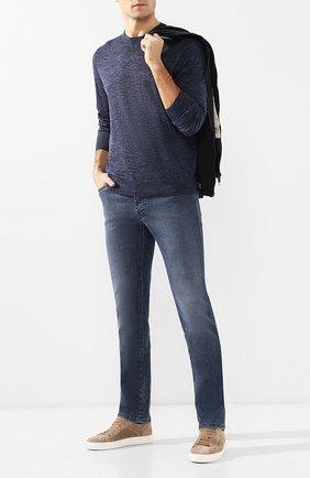 Мужские джинсы прямого кроя BRIONI синего цвета, арт. SPLE00/PZD01 | Фото 2