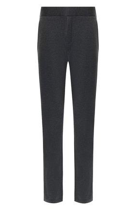Мужской брюки из смеси хлопка и шерсти BOTTEGA VENETA темно-серого цвета, арт. 470798/VZZY5 | Фото 1