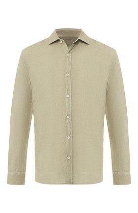 Льняная рубашка с воротником кент | Фото №1
