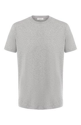 Мужская хлопковая футболка  VALENTINO светло-серого цвета, арт. RV3MG08Y3LE | Фото 1