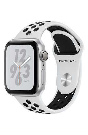 Apple Watch Nike+ Series 4 GPS 40mm Silver Aluminium Case with Pure Platinum/Black Nike Sport Band | Фото №1