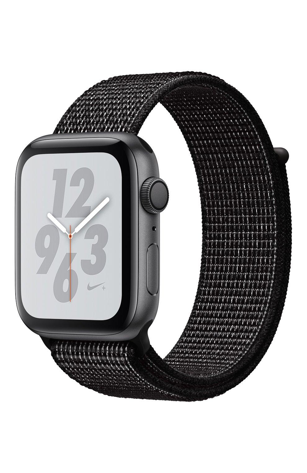 AppleWatch Nike+ Series4 GPS 44mm Space Gray Aluminium Case with Black Nike Sport Loop Apple  | Фото №1