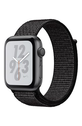Apple Watch Nike+ Series 4 GPS 44mm Space Gray Aluminium Case with Black Nike Sport Loop | Фото №1