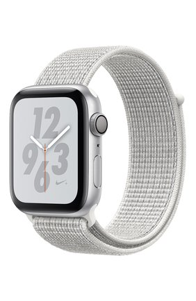 Apple Watch Nike+ Series 4 GPS 44mm Silver Aluminium Case with Summit White Nike Sport Loop Apple  | Фото №1