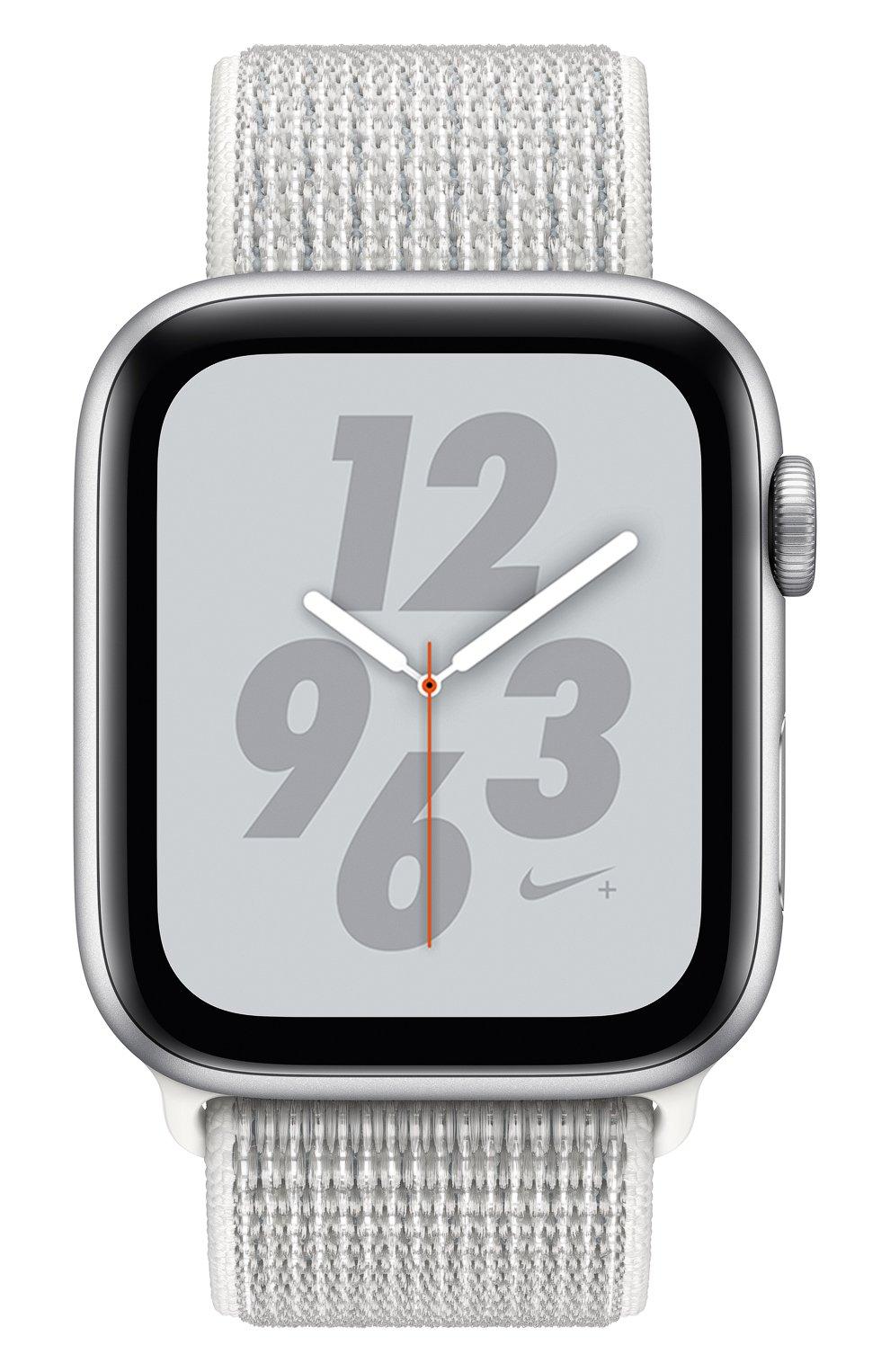 AppleWatch Nike+ Series4 GPS 44mm Silver Aluminium Case with Summit White Nike Sport Loop | Фото №2