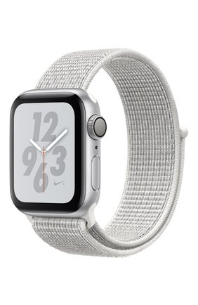 Apple Watch Nike+ Series 4 GPS 40mm Silver Aluminium Case with Summit White Nike Sport Loop | Фото №1