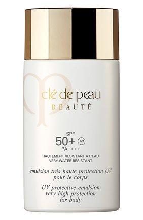 Женский защитная эмульсия для тела spf50 CLÉ DE PEAU BEAUTÉ бесцветного цвета, арт. 13301CP | Фото 1