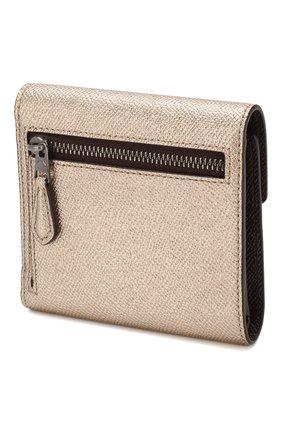 Женские кожаное портмоне с отделениями для кредитных карт COACH золотого цвета, арт. 59972 | Фото 2