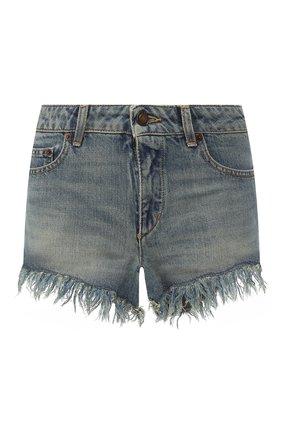 Джинсовые шорты с потертостями | Фото №1