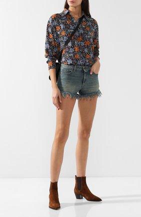 Джинсовые шорты с потертостями | Фото №2