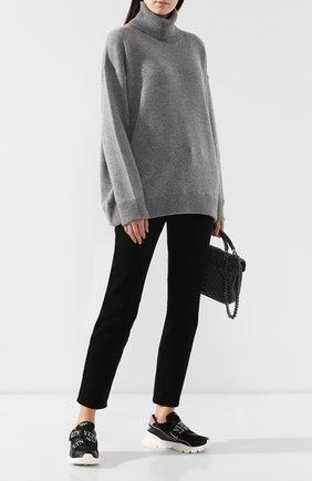 Женский кашемировый свитер DOLCE & GABBANA светло-серого цвета, арт. I613KW/JAWMS | Фото 2
