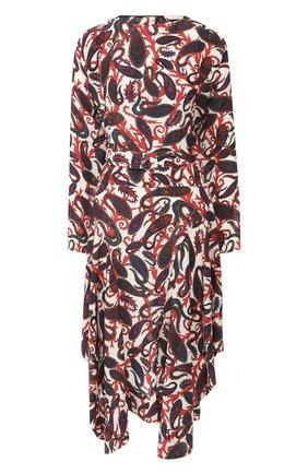Шелковое платье с принтом   Фото №1