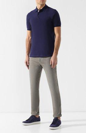 Мужские джинсы прямого кроя BRUNELLO CUCINELLI хаки цвета, арт. M0Y16J2010 | Фото 2