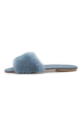 Домашние туфли с отделкой из меха норки | Фото №3