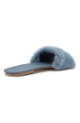 Домашние туфли с отделкой из меха норки | Фото №4
