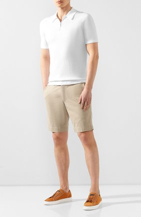 Мужские хлопковые шорты POLO RALPH LAUREN светло-бежевого цвета, арт. 710737075   Фото 2