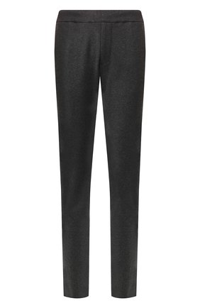 Мужской кашемировые брюки прямого кроя с поясом на резинке BOTTEGA VENETA темно-серого цвета, арт. 511144/VELA0 | Фото 1