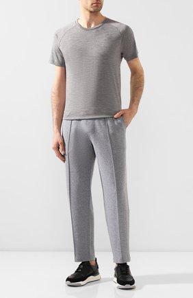 Мужская шерстяная футболка Z ZEGNA серого цвета, арт. V8390/ZZT653 | Фото 2