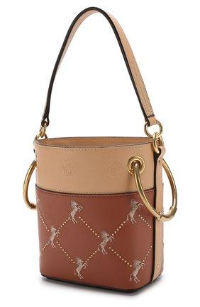 Сумка Roy Bucket mini Chloé светло-коричневая цвета | Фото №3