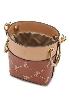 Сумка Roy Bucket mini Chloé светло-коричневая цвета | Фото №4