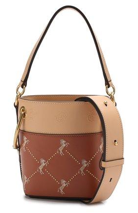 Сумка Roy Bucket mini Chloé светло-коричневая цвета | Фото №6