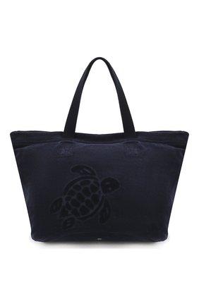 Мужская текстильная пляжная сумка VILEBREQUIN темно-синего цвета, арт. BNYE9200 | Фото 1