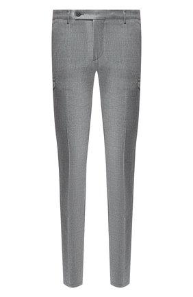 Мужской шерстяные брюки ANDREA CAMPAGNA серого цвета, арт. M0RELL018 CARG0/RD5470   Фото 1