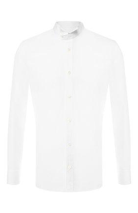Мужская хлопковая сорочка с воротником бабочка Z ZEGNA белого цвета, арт. 405001/9DTZFS | Фото 1