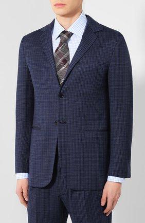 Мужской шерстяной костюм с пиджаком на двух пуговицах KNT темно-синего цвета, арт. UAS01K01R73 | Фото 2