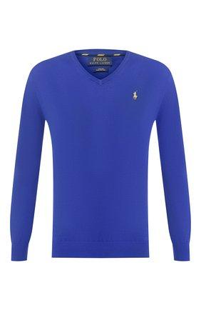 Мужской хлопковый пуловер POLO RALPH LAUREN синего цвета, арт. 710744677 | Фото 1
