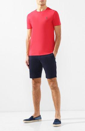Мужская хлопковая футболка  POLO RALPH LAUREN красного цвета, арт. 710671438 | Фото 2