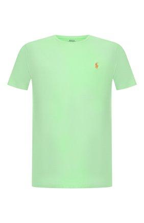 Мужская хлопковая футболка  POLO RALPH LAUREN салатового цвета, арт. 710671438 | Фото 1