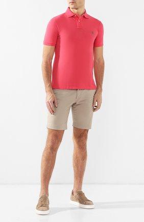 Мужское хлопковое поло POLO RALPH LAUREN красного цвета, арт. 710536856 | Фото 2