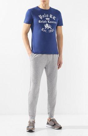 Мужской брюки из смеси хлопка и вискозы POLO RALPH LAUREN серого цвета, арт. 710718533 | Фото 2