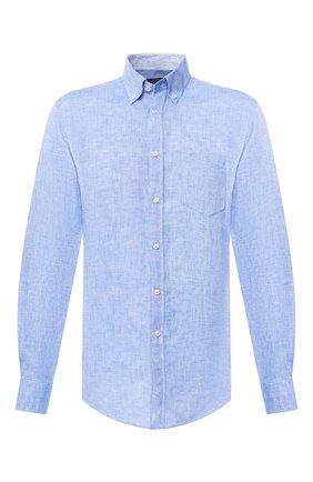 Льняная рубашка с воротником button down | Фото №1