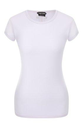 Женская хлопковая футболка TOM FORD сиреневого цвета, арт. TSJ295-FAX262 | Фото 1