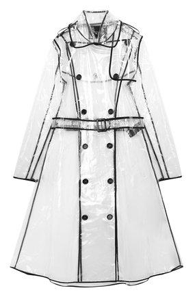 Прозрачное пальто с поясом   Фото №1