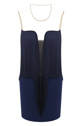 Мини-платье с бахромой | Фото №1
