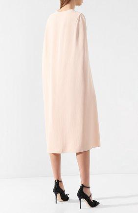 Платье из вискозы Stella McCartney розовое   Фото №4