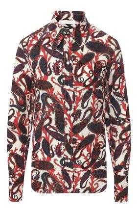 Шелковая рубашка с принтом