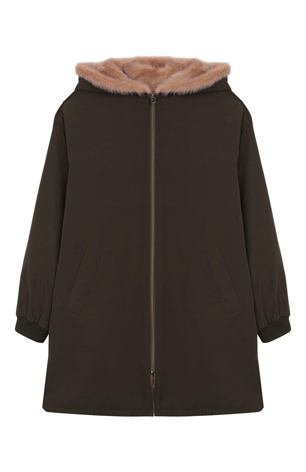 Двустороннее пальто с мехом | Фото №1