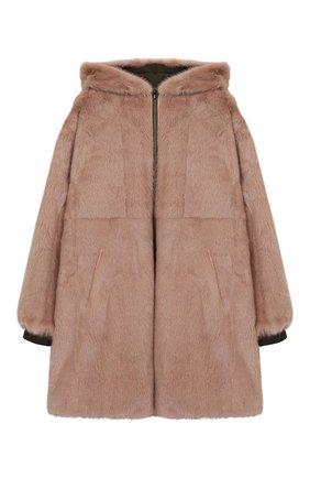 Двустороннее пальто с мехом | Фото №4