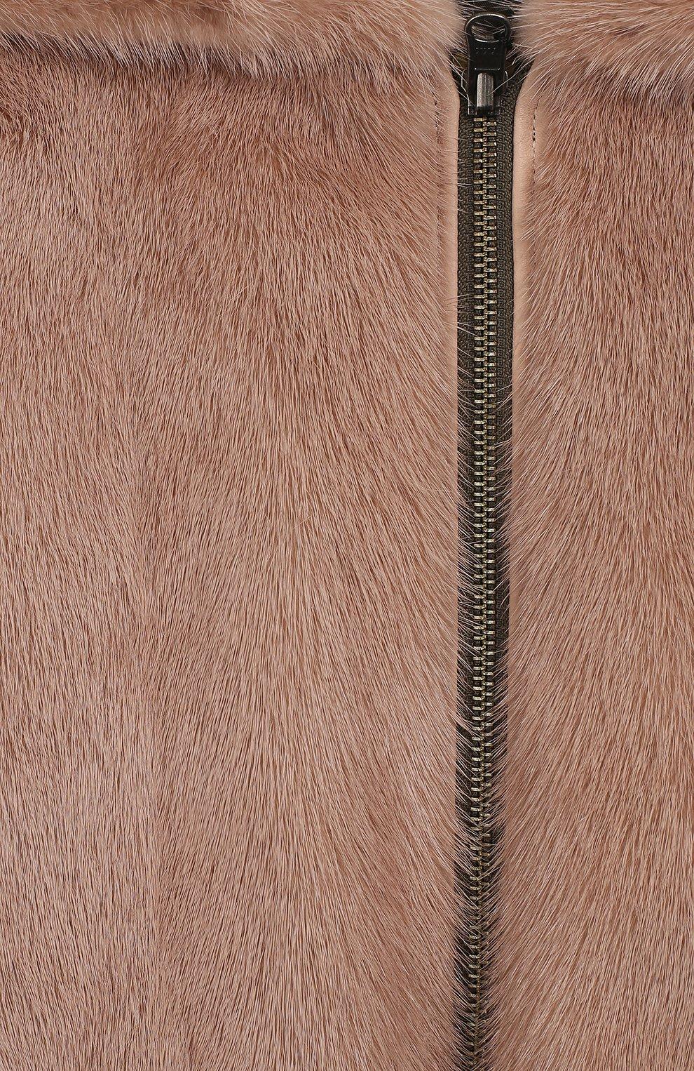 Двустороннее пальто с мехом | Фото №6