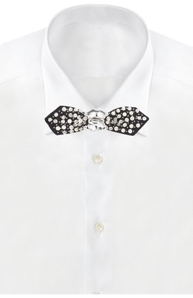 Женский шелковый галстук-бабочка DOLCE & GABBANA черного цвета, арт. FT025R/GD26U | Фото 2